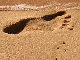 voetafdruk zand